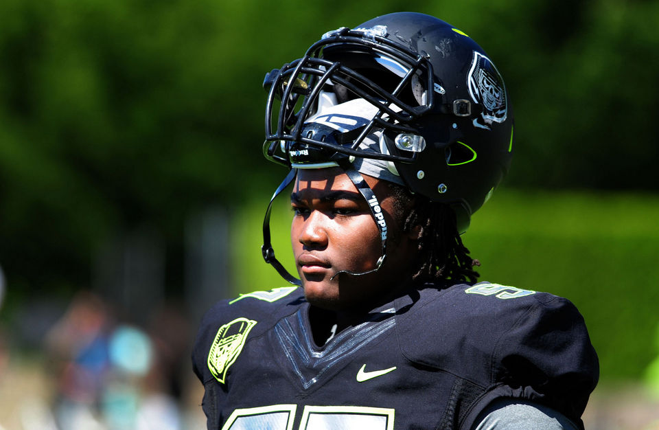 Rashan Gary. (via Steve Dykes/USA TODAY Sports)