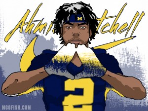 2016 WR Ahmir Mitchell. (art by Brandon Whitaker)