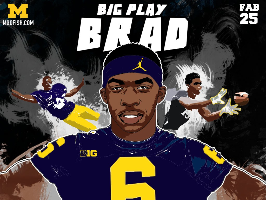 2016 WR Brad Hawkins. (art by Brandon Whitaker)