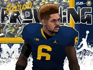 2017 OLB Baron Browning (art by Brandon Whitaker)