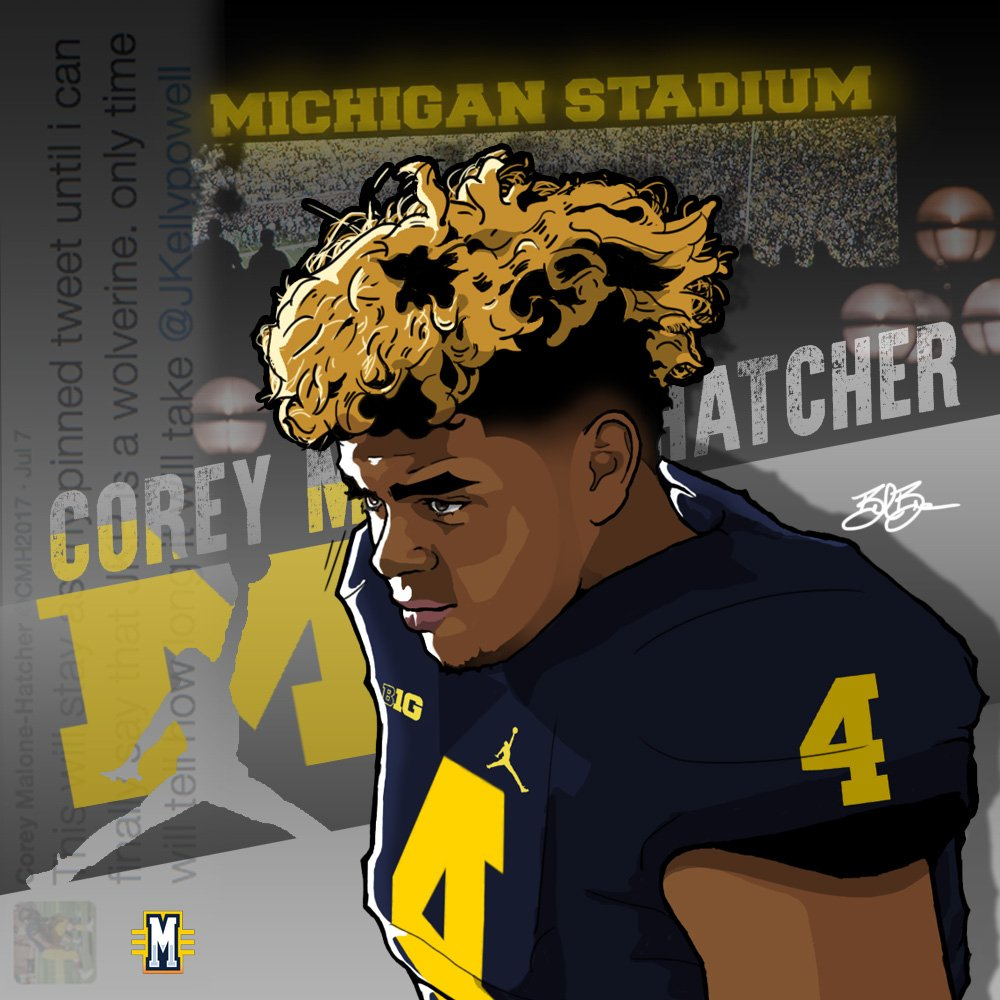 2017 DE Corey Malone-Hatcher (art by Brandon Whitaker)