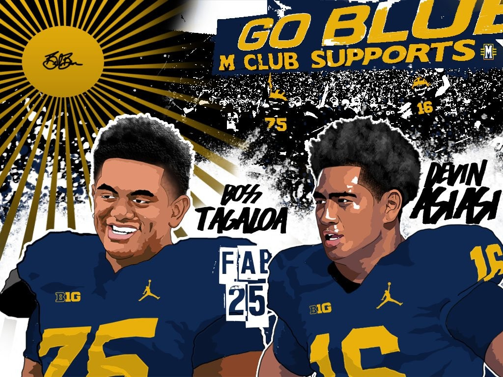 2016 DT Boss Tagaloa & TE Devin Asiasi. (Art by Brandon Whitaker)