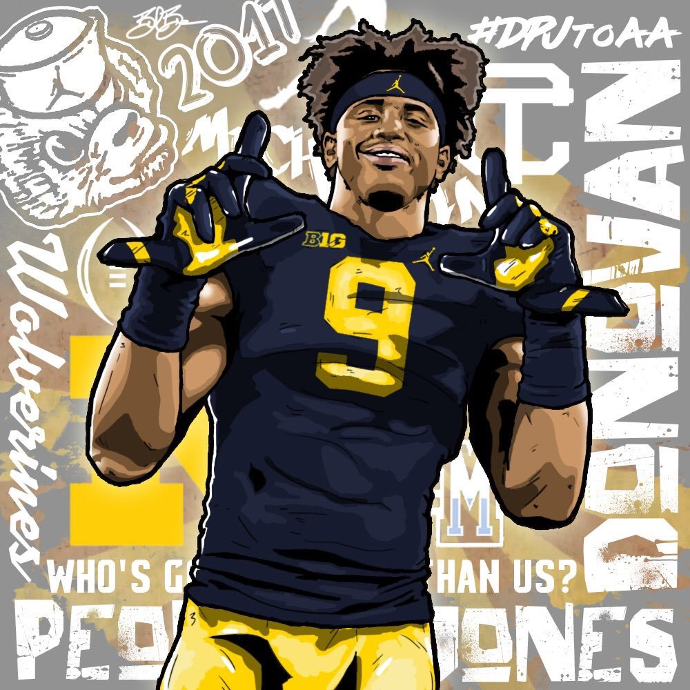 2017 WR Donovan Peoples-Jones Michigan edit (art by Brandon Whitaker)