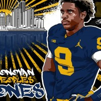 2017 WR Donovan Peoples-Jones (art by Brandon Whitaker).