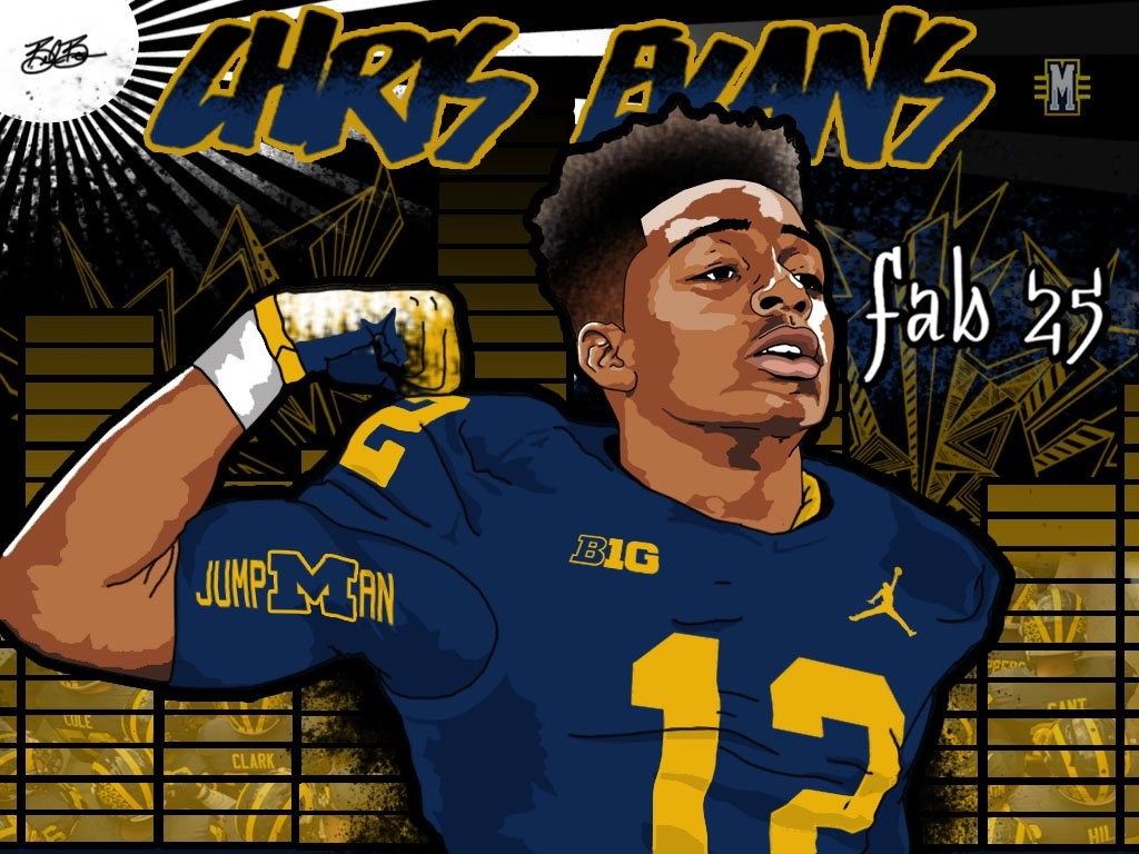 2016 commit ATH Chris Evans. (art by Brandon Whitaker)