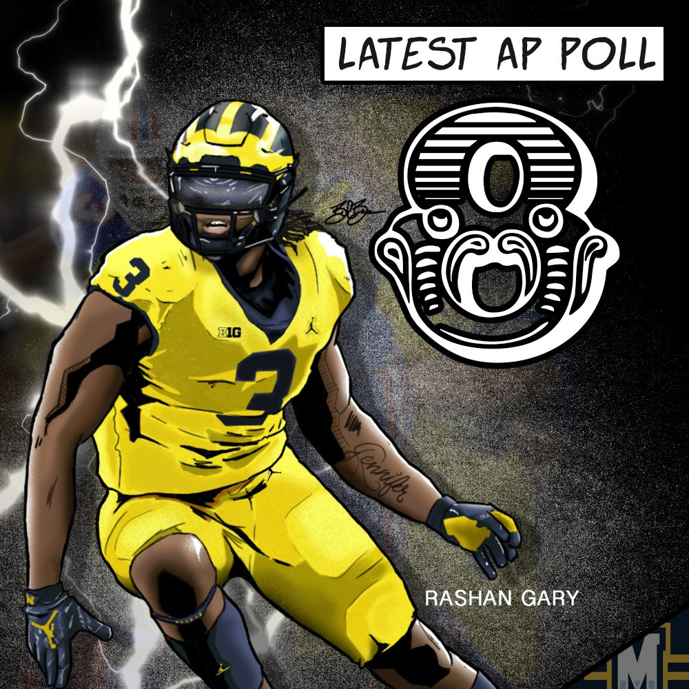 Rashan Gary. Art by Brandon Whitaker (@BillionBus)