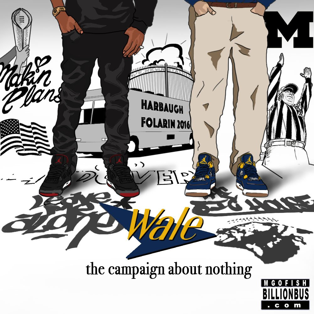 Harbaugh and Wale. 2020. (art by Brandon Whitaker)