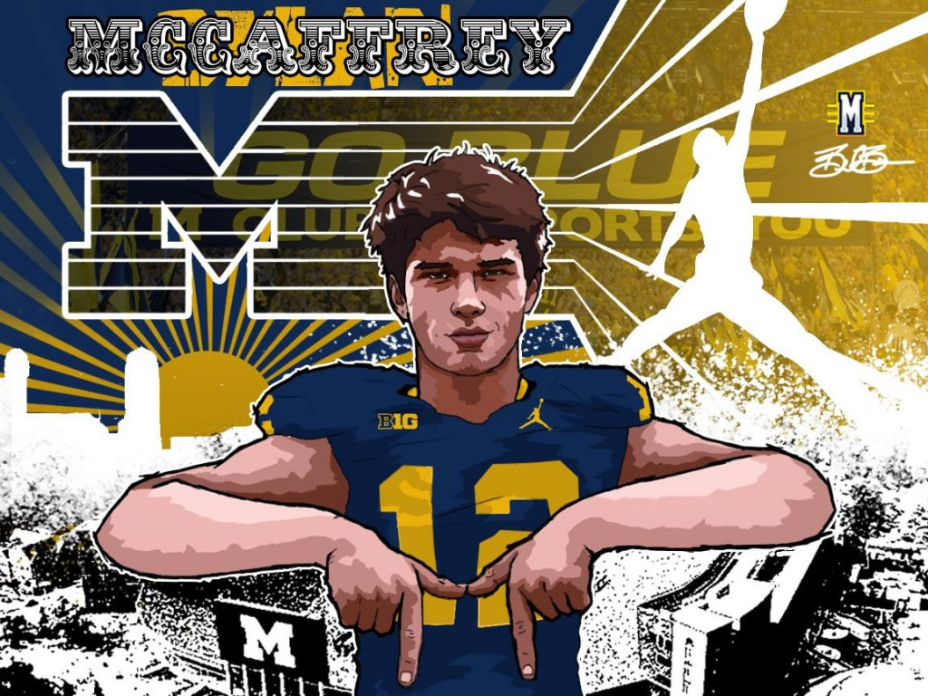 2017 commit QB Dylan McCaffrey (art by Brandon Whitaker).