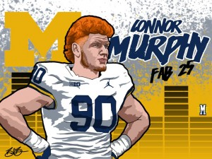 2016 DE Connor Murphy. (art by Brandon Whitaker)