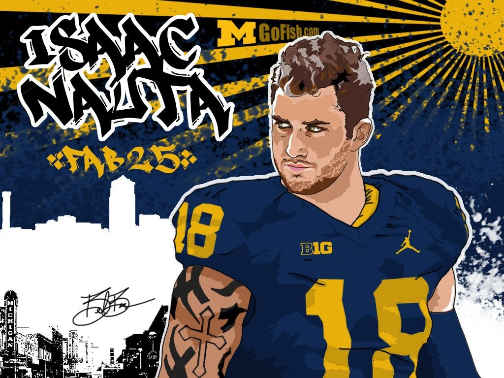 2016 TE Isaac Nauta. (art by Brandon Whitaker)
