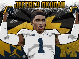 2017 DB Jeffrey Okudah. (art by Brandon Whitaker)