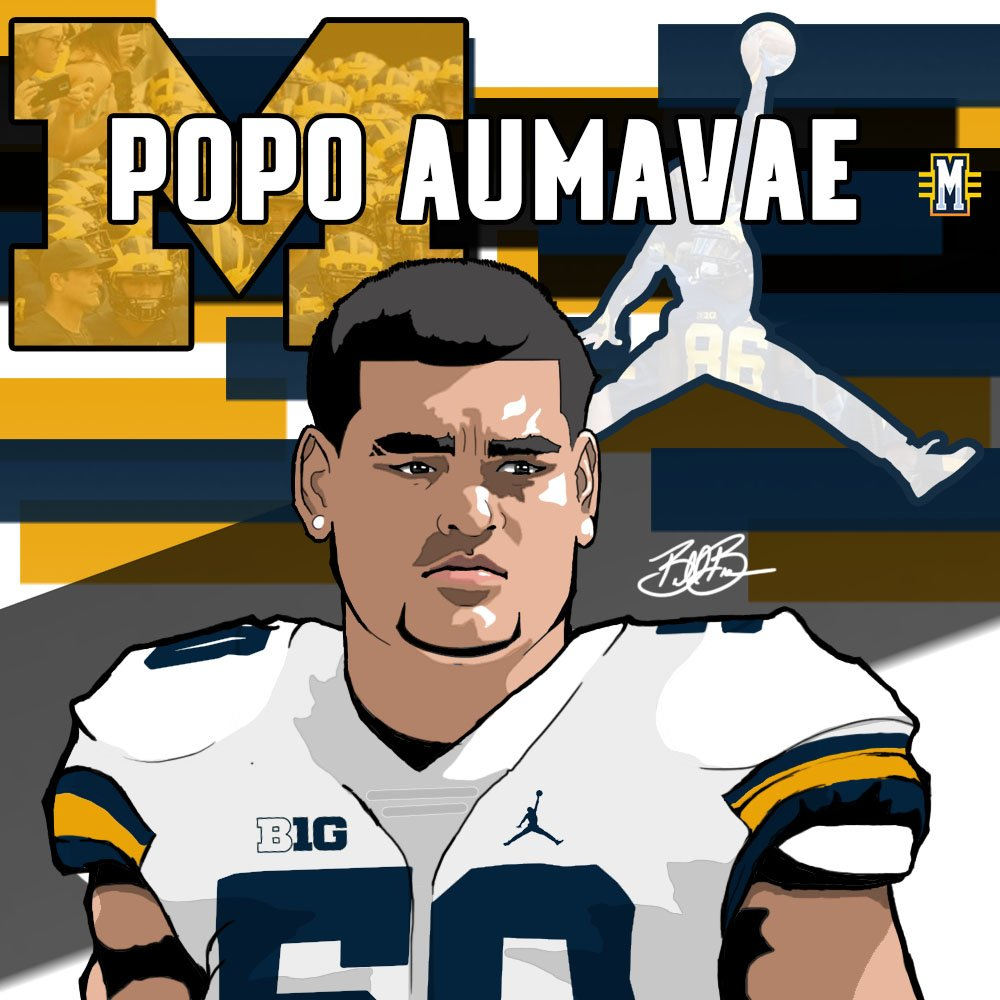 2017 ATH Popo Aumavae (art by Brandon Whitaker)