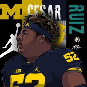 2017 C Cesar Ruiz. (art by Brandon Whitaker)