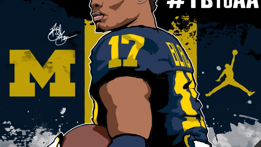 2017 WR Tarik Black (art by Brandon Whitaker)