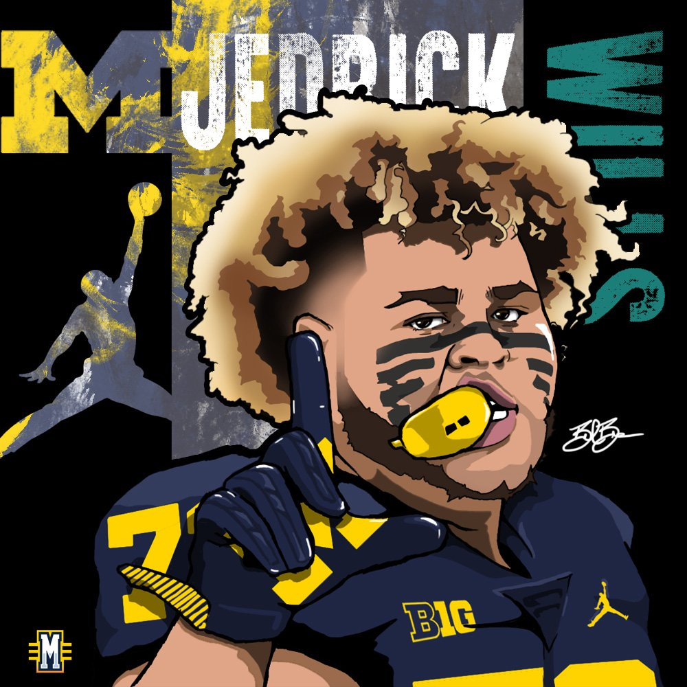 2017 OL Jedrick Wills. (art by Brandon Whitaker)