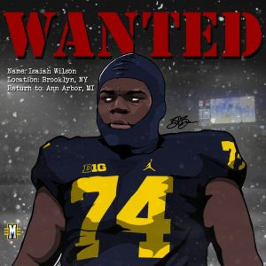 2017 OT Isaiah Wilson (art by Brandon Whitaker)