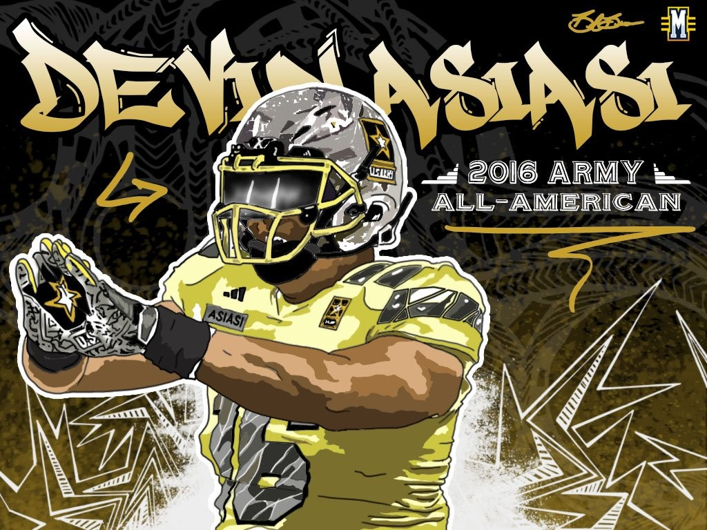 2016 TE/DE Devin Asiasi. (art by Brandon Whitaker)