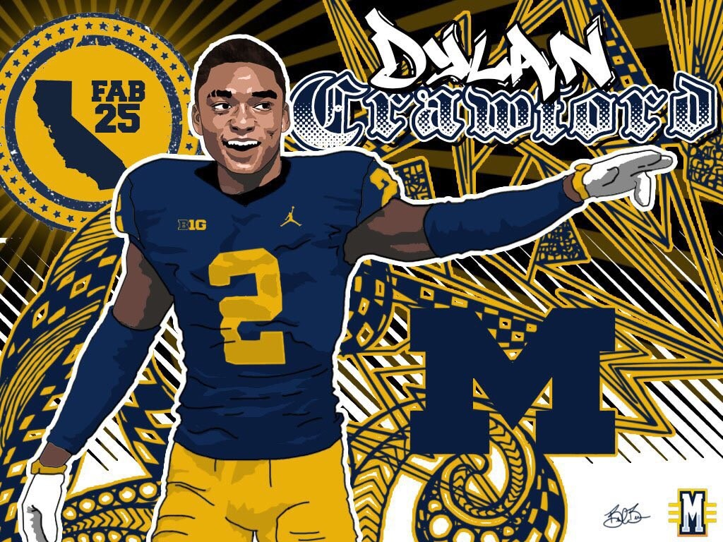 2016 WR Dylan Crawford. (art by Brandon Whitaker)