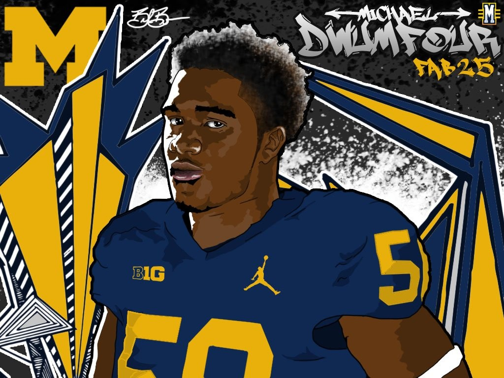 2016 DT Michael Dwumfour. (art by Brandon Whitaker)