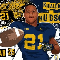 2016 ATH Khaleke Hudson. (art by Brandon Whitaker)