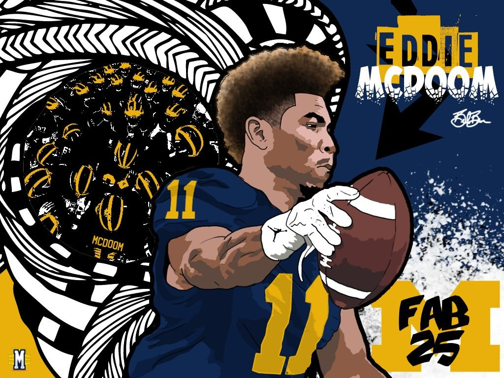 2016 WR Eddie McDoom (art by Brandon Whitaker)
