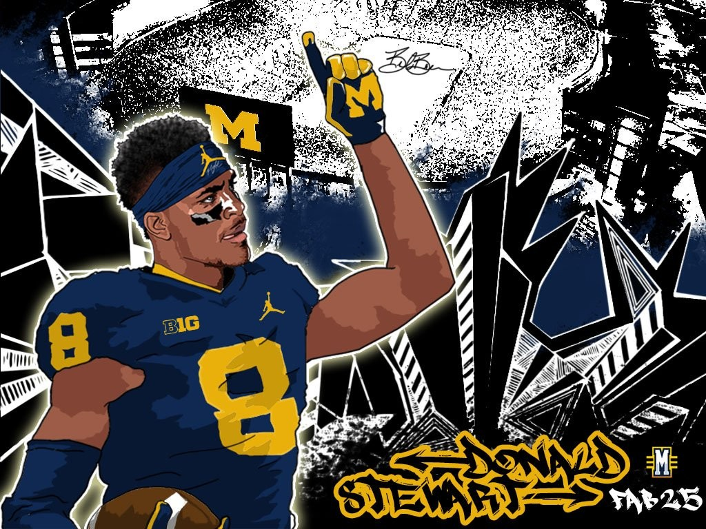 2016 WR Donald Stewart. (art by Brandon Whitaker)