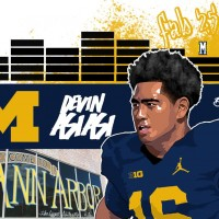 2016 TE Devin Asiasi. (art by Brandon Whitaker)