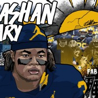 2016 DL Rashan Gary. (Art by Brandon Whitaker)