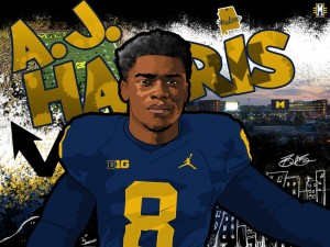 2017 S AJ Harris. (art by Brandon Whitaker)