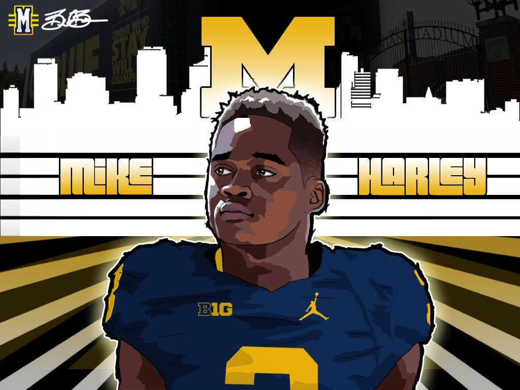 2017 WR Mike Harley (art by Brandon Whitaker)