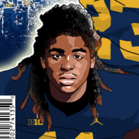 Devin Bush Jr. (art by Brandon Whitaker)