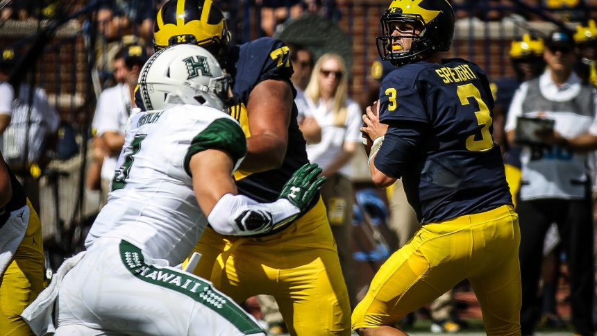 Michigan 39 s poise dr blitz lead wolverines to big win for M go fish