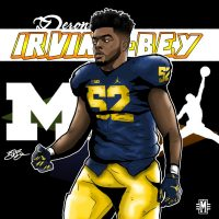 2017 DL Deron Irving-Bey (art by Brandon Whitaker)