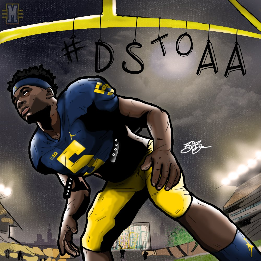 2017 LB Drew Singleton (art by Brandon Whitaker)