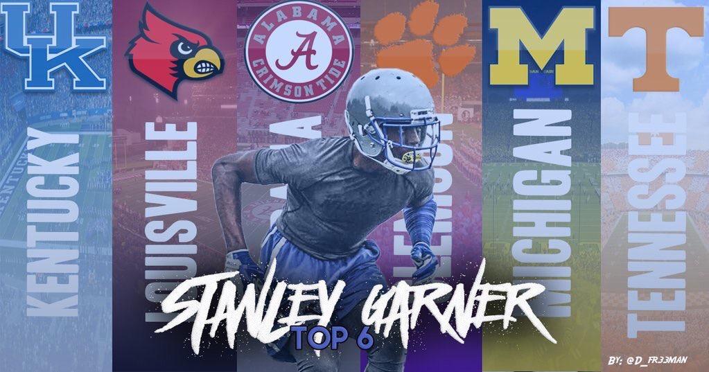 2018 CB Stanley Garner's top six
