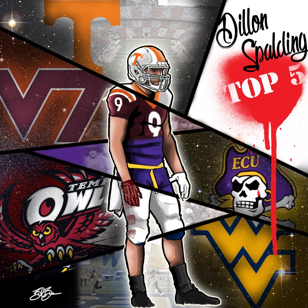 2018 WR Dillon Spalding top 8 edit (art by Brandon Whitaker)