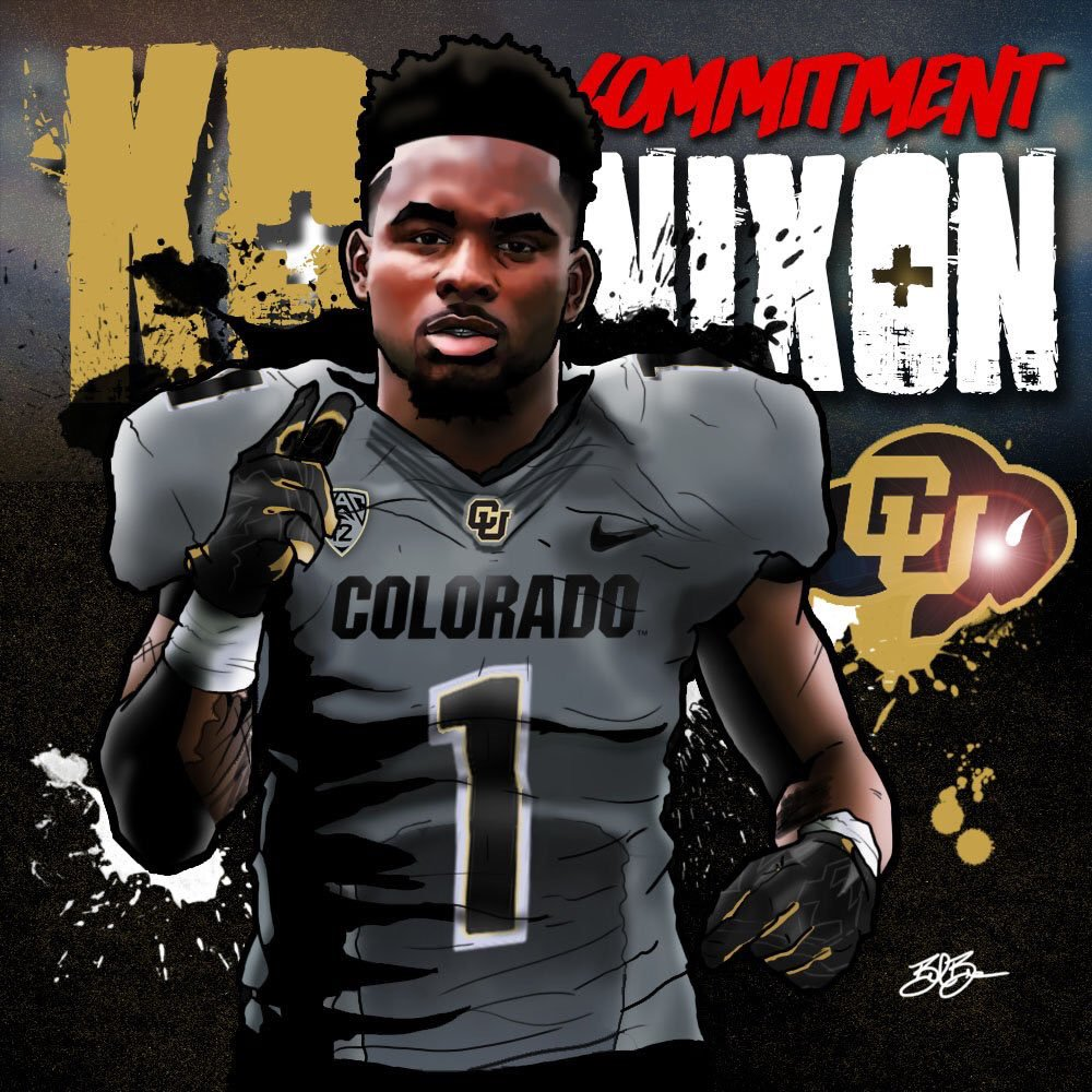 2017 WR KD Nixon commitment edit (art by Brandon Whitaker)