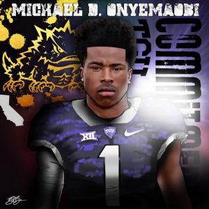 Michael Onyemaobi commitment edit (art by Brandon Whitaker)