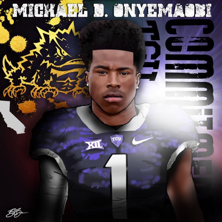 Michael Onyemaobi commitment edit (art by Brandon Whitaker)