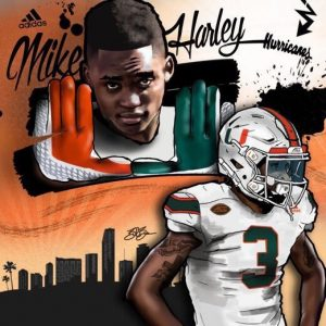 2017 WR Mike Harley commitment edit (art by Brandon Whitaker)