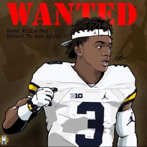 2017 LB Willie Gay Michigan edit (art by Brandon Whitaker)