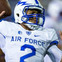 Nov 19, 2016; San Jose, CA, USA; Air Force Falcons quarterback Arion Worthman (2) warms up before the game against the San Jose State Spartans at Spartan Stadium. Mandatory Credit: John Hefti-USA TODAY Sports