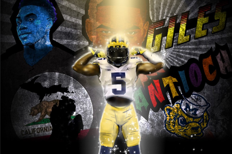 Giles Jackson commitment graphic. (Art by Brandon Whitaker/BillionBus)