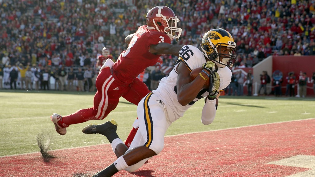 Jehu Chesson vs Indiana. (via SportingNews.com)