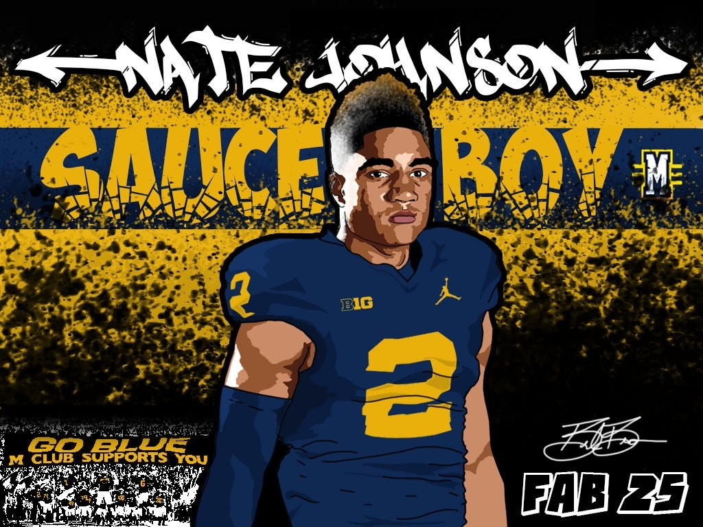 2016 commit WR Nate Johnson. (art by Brandon Whitaker)