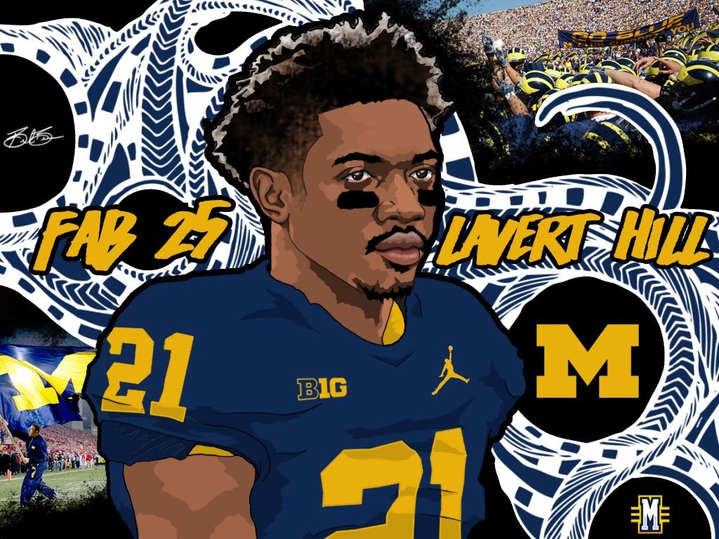 2016 CB Lavert Hill. (art by Brandon Whitaker)