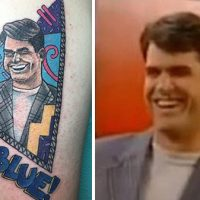 Jim Harbaugh tattoo. (Photo Credit: BleacherReport/@MarkTheNomad)