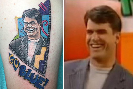 Jim Harbaugh tattoo. (Photo Credit: BleacherReport/@MarkTheNomad)