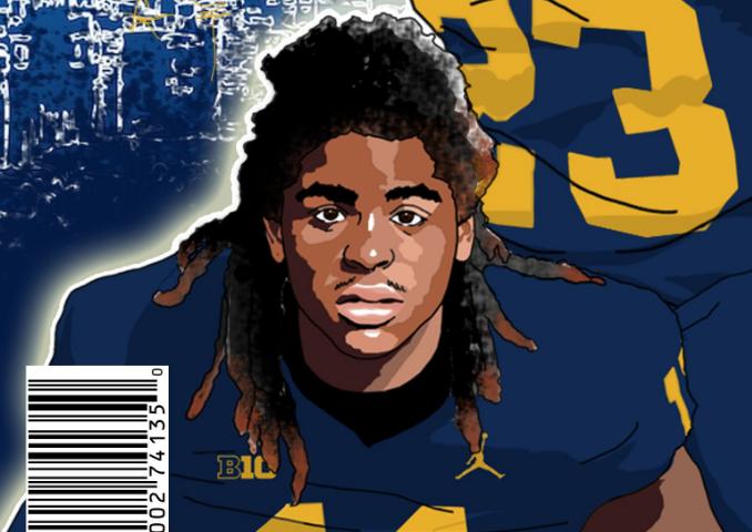 Devin Bush Jr. (art by Brandon Whitaker)