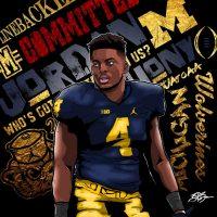 2017 LB Jordan Anthony (art by Brandon Whitaker)